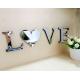 Зеркальные буквы Love / Home