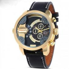 Мужские часы, кварцевые, натуральная кожа, люкс