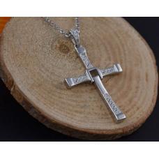 Мужской кулон Крестик / серебро 925