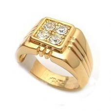 Мужское позолоченное кольцо