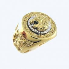 Мужское кольцо Лев