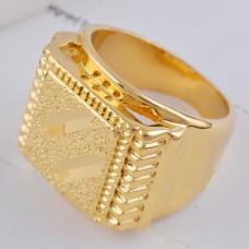 Мужское кольцо позолота
