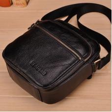 Мужская маленькая сумка из натуральной кожи