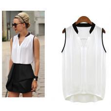 Женская шифоновая блузка без рукавов