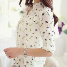 Женская шифоновая рубашка Попугай
