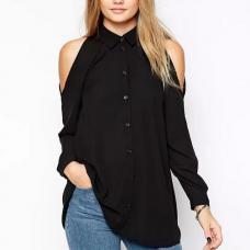 Женская рубашка с открытыми плечами