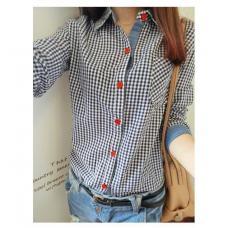 Женская рубашка в клетку, рубашка женская, рубашки в клетку женские, жіноча рубашка