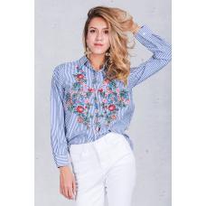 Женская модная рубашка с вышивкой