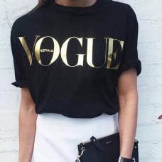 Модная женская футболка в стиле Vogue
