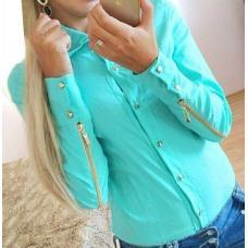 Женская рубашка с молнией
