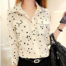 Женская шифоновая рубашка-блузка