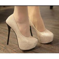 Туфли черный-серебристый цвет