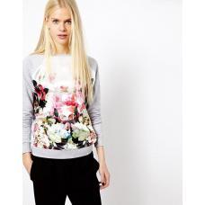 Пуловер женский 3D цветок