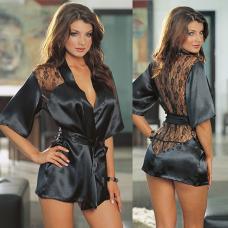 Женский халатик, атласный халат, эротическое сексуальное белье, жіночий халатик