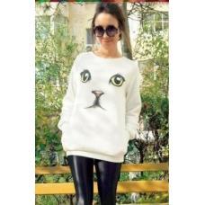 Женский свитер кошка