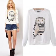 Женский пуловер, женский пуловер сова, жіноча кофта