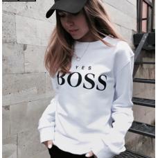 Женская толстовка yes Boss