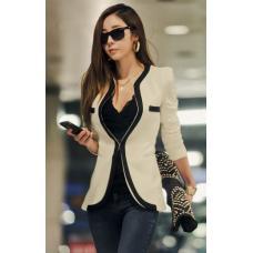 Пиджак классический женский контрастный дизайн