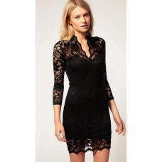 Элегантное кружевное гипюровое платье