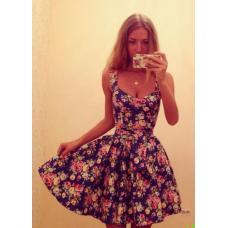 Сарафан цветок, платье куколка, женское платье, плаття