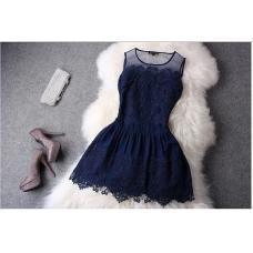Кружевное платье, вечернее мини платье, плаття