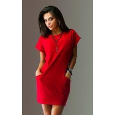 Женское платье с двумя карманами / разные цвета