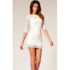 Гипюровое платье, платье гипюр, платье трикотажное с гипюром, плаття недорого, коротке плаття