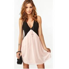 Платье летнее шифон V-образный вырез / летнее платье