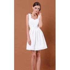 Платье летнее сердце с открытой спиной