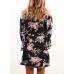 Женское платье цветочек