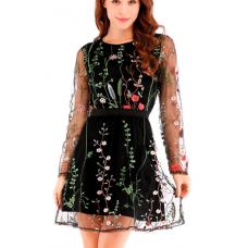 Кружевное платье цветы