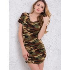 Женское платье камуфляж
