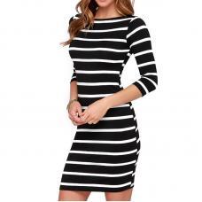 Платье полосатое, платье карандаш, облегающее платье, плаття