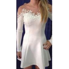 Женское ажурное короткое платье