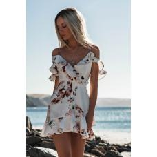 Женское мини платье Цветок