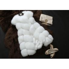 Женская меховая жилетка высшего качества LUX5