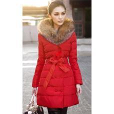Куртка женская с меховым воротником весна-осень