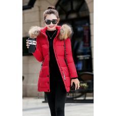 Женская куртка меховой воротник осень-весна