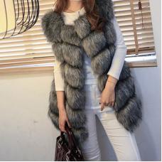 Женская жилетка с искусственным мехом высшего класса LUX 5