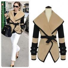 Короткое пальто женское британский стиль