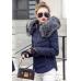 Женская куртка меховой воротник (осень-весна)