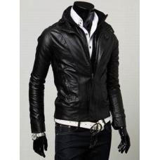 Мужская куртка Pu кожа демисезонная