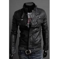 Мужская кожанная куртка осень - весна с искусственной кожой