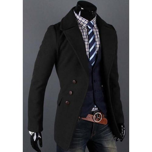 Стильный мужской пальто-пиджак f6f5ff8a7695d