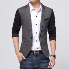 Мужской пиджак двухцветный фешн