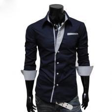 Рубашка мужская с контрастными деталями