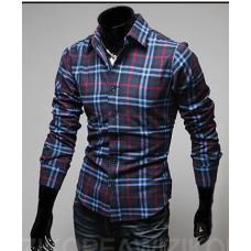 Рубашка в клетку, мужская рубашка, мужская классическая рубашка, чоловіча сорочка