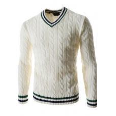Мужской пуловер с V-образным вырезом, свитер мужской с длинным рукавом, чоловіча кофта
