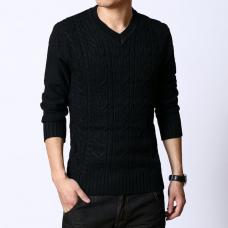 Пуловер-свитер с узором «косичка»