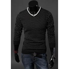 Мужской свитер-пуловер Белые точки